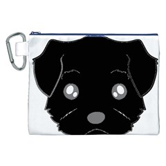 Affenpinscher Cartoon 2 Sided Head Canvas Cosmetic Bag (XXL)