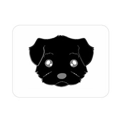 Affenpinscher Cartoon 2 Sided Head Double Sided Flano Blanket (Mini)