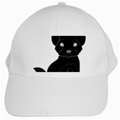 Affenpinscher Cartoon White Baseball Cap