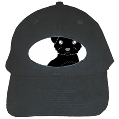 Affenpinscher Cartoon Black Baseball Cap