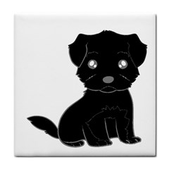 Affenpinscher Cartoon Ceramic Tile