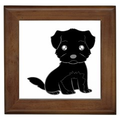 Affenpinscher Cartoon Framed Ceramic Tile