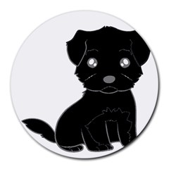 Affenpinscher Cartoon 8  Mouse Pad (Round)
