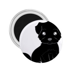 Affenpinscher Cartoon 2.25  Button Magnet