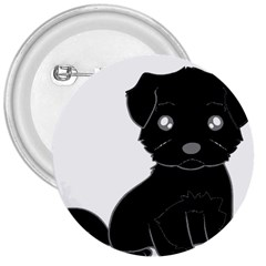 Affenpinscher Cartoon 3  Button