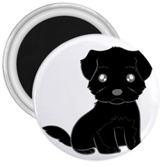 Affenpinscher Cartoon 3  Button Magnet