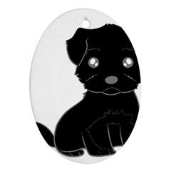 Affenpinscher Cartoon Oval Ornament