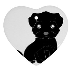 Affenpinscher Cartoon Heart Ornament