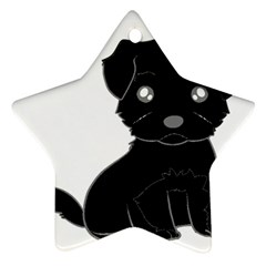 Affenpinscher Cartoon Star Ornament