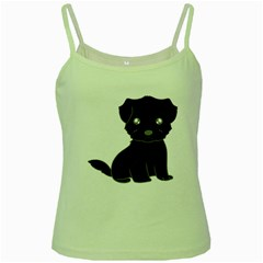 Affenpinscher Cartoon Green Spaghetti Tank