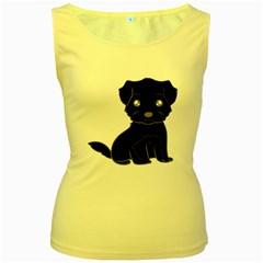 Affenpinscher Cartoon Women s Tank Top (Yellow)
