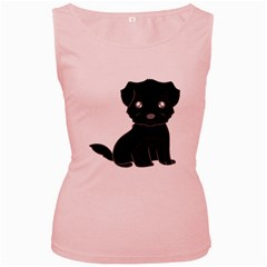 Affenpinscher Cartoon Women s Tank Top (Pink)
