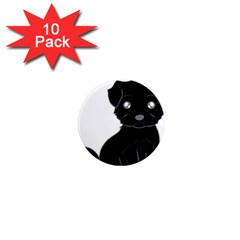 Affenpinscher Cartoon 1  Mini Button Magnet (10 pack)