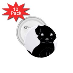 Affenpinscher Cartoon 1.75  Button (10 pack)