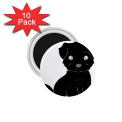 Affenpinscher Cartoon 1.75  Button Magnet (10 pack)