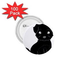 Affenpinscher Cartoon 1.75  Button (100 pack)