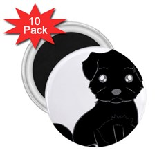 Affenpinscher Cartoon 2.25  Button Magnet (10 pack)