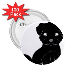 Affenpinscher Cartoon 2.25  Button (100 pack)