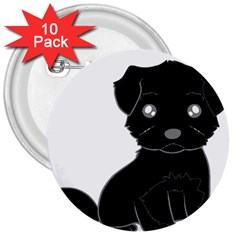 Affenpinscher Cartoon 3  Button (10 pack)