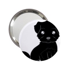 Affenpinscher Cartoon Handbag Mirror (2.25 )