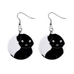 Affenpinscher Cartoon Mini Button Earrings