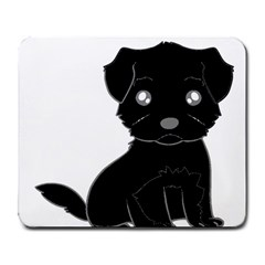 Affenpinscher Cartoon Large Mouse Pad (Rectangle)