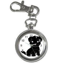 Affenpinscher Cartoon Key Chain Watch