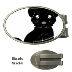 Affenpinscher Cartoon Money Clip (Oval)