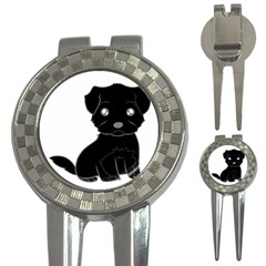 Affenpinscher Cartoon Golf Pitchfork & Ball Marker