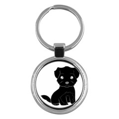 Affenpinscher Cartoon Key Chain (Round)