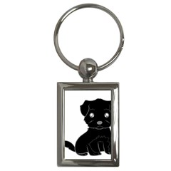 Affenpinscher Cartoon Key Chain (Rectangle)
