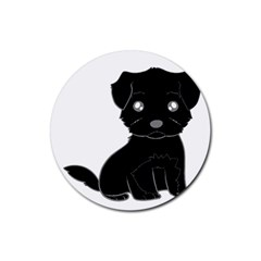 Affenpinscher Cartoon Drink Coaster (Round)