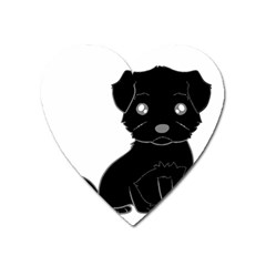 Affenpinscher Cartoon Magnet (Heart)