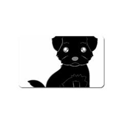 Affenpinscher Cartoon Magnet (Name Card)