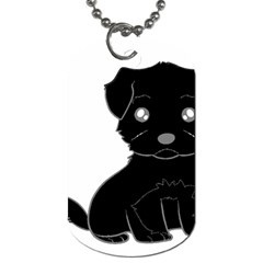 Affenpinscher Cartoon Dog Tag (One Sided)