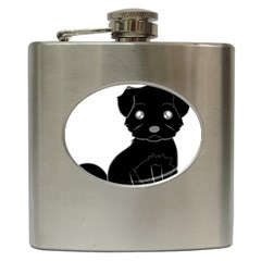 Affenpinscher Cartoon Hip Flask