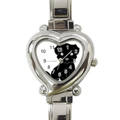 Affenpinscher Cartoon Heart Italian Charm Watch