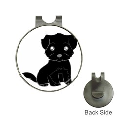 Affenpinscher Cartoon Hat Clip with Golf Ball Marker