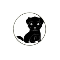 Affenpinscher Cartoon Golf Ball Marker 4 Pack (for Hat Clip)