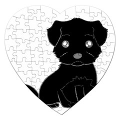 Affenpinscher Cartoon Jigsaw Puzzle (Heart)