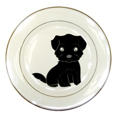 Affenpinscher Cartoon Porcelain Display Plate