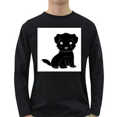 Affenpinscher Cartoon Men s Long Sleeve T-shirt (Dark Colored)