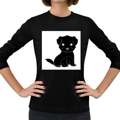 Affenpinscher Cartoon Women s Long Sleeve T-shirt (Dark Colored)