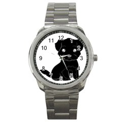 Affenpinscher Cartoon Sport Metal Watch