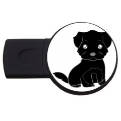 Affenpinscher Cartoon 4GB USB Flash Drive (Round)