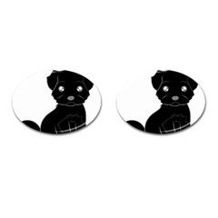 Affenpinscher Cartoon Cufflinks (Oval)