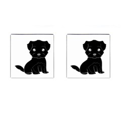 Affenpinscher Cartoon Cufflinks (Square)