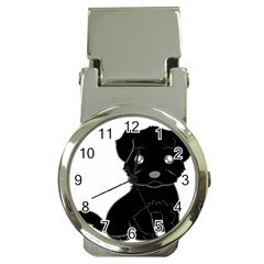 Affenpinscher Cartoon Money Clip with Watch