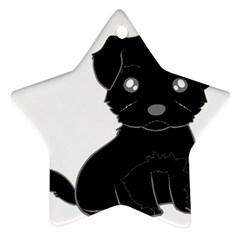 Affenpinscher Cartoon Star Ornament (Two Sides)