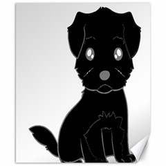 Affenpinscher Cartoon Canvas 8  x 10  (Unframed)